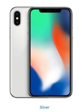 Apple iPhone X - 64GB - Silver (Unlocked)