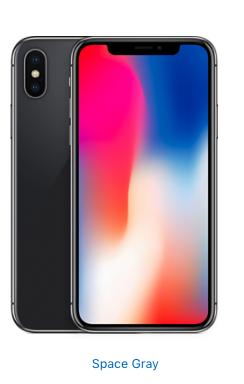 Apple iPhone X - 64GB - Space Gray (Unlocked)