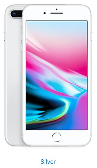 Apple iPhone 8 Plus - 64GB - Silver (Unlocked)