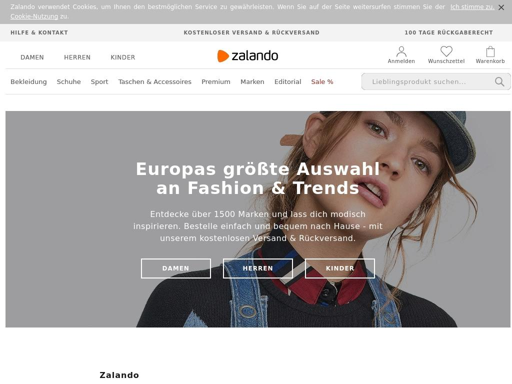 Kleidung online shop zalando